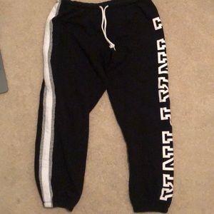Victoria's Secret PINK black sweatpants
